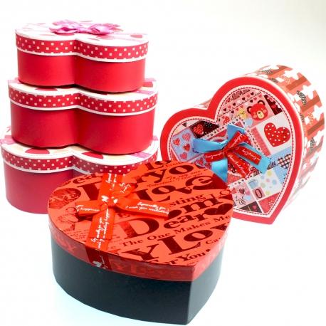3 lü kalpli hediye kutusu